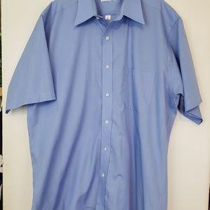Pierre Cardin blue button down dress shirt